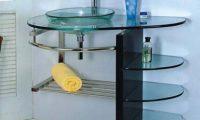 Стеклянная раковина в интерьере ванной комнаты