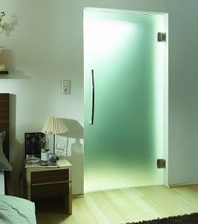 стеклянная дверь для ванной