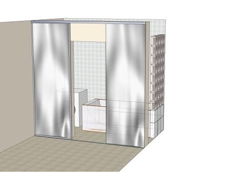 стеклянные раздвижные двери в ванную