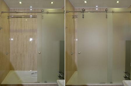 стеклянные раздвижные перегородки для ванной