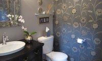 Полная обработка стен в ванной — выравнивание, обработка и обклейка