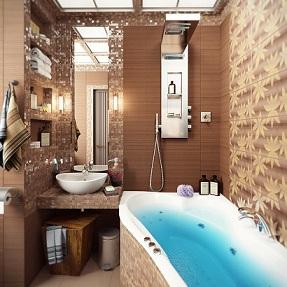 стильный дизайн ванной площадью 5 кв м
