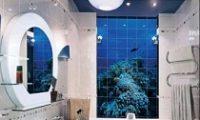Дизайн для ванной с помощью фотоплитки
