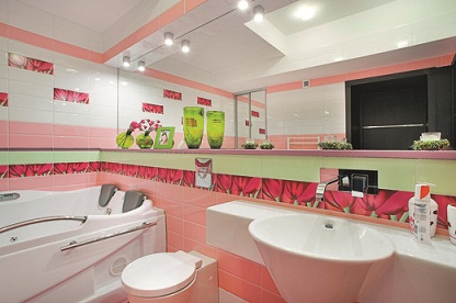 стиль авангард в ванной