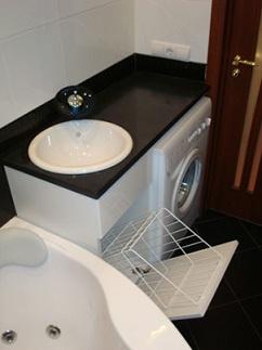 стиральная машина в столешнице