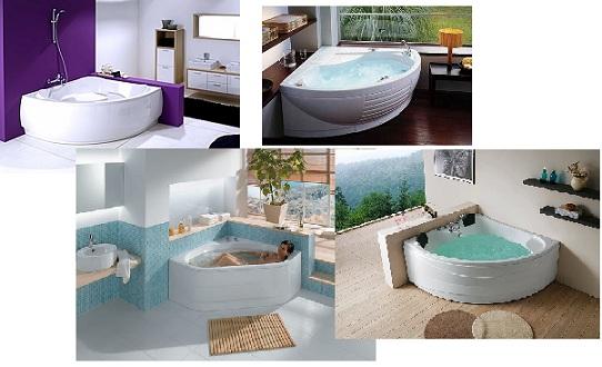 треугольные ванны в интерьере