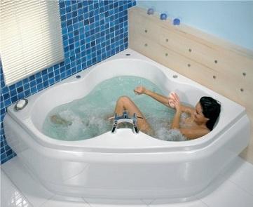 угловая ванна джакузи