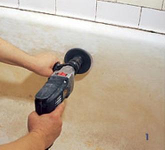 удаление эмали с ванны