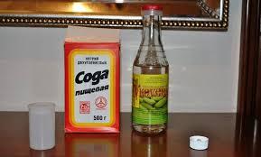 уксус и пищевая сода - средство от плесени