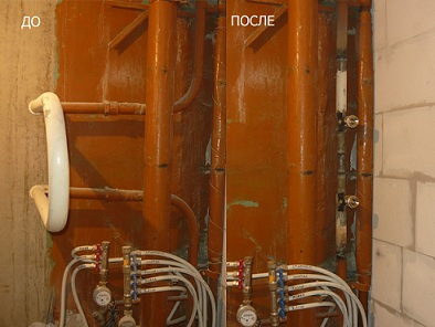 установка байпаса полотенцесушителя