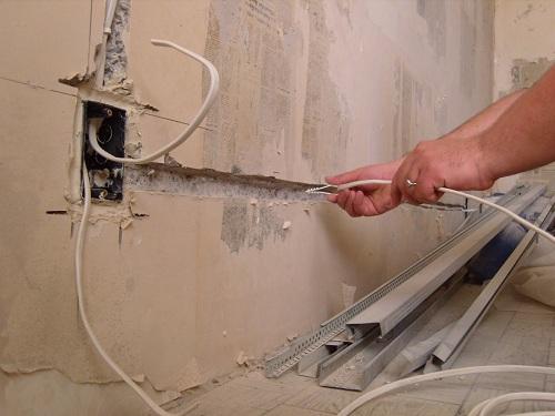 устройство проводки в ванной комнате