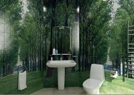фотоплитка в ванной - природа