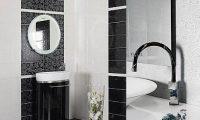 Создаем черно-белый интерьер ванной комнаты