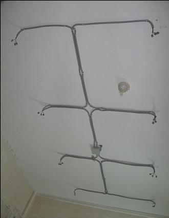 электропроводка до монтажа каркаса