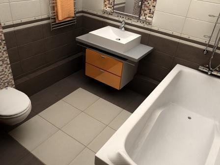 эстетичная плитка в ванной
